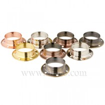 E14 Plated Steel Lampholders Shade Rings