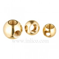 Brass Balls 3 Way Hole