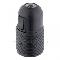 E27 Thermoplastic Lampholder with Rocker Switch