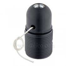 E27 Thermoplastic Lampholder with Pull Switch