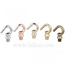 M10 Male and Female Brass Hooks