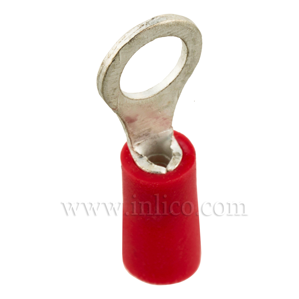 RING TERMINALS INSULATED RED 0.5-1.5mm