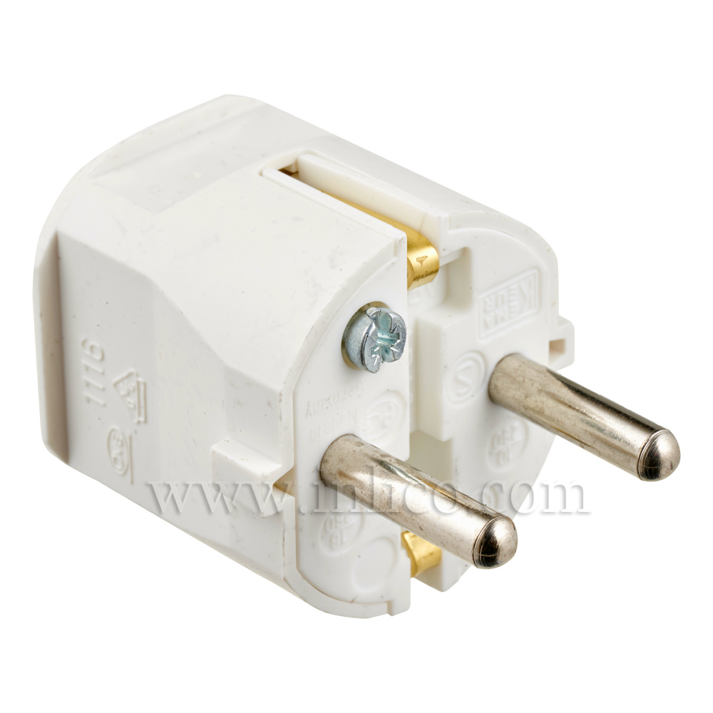 REWIRABLE SCHUKO PLUG TYPE F WHITE VDE APPROVED