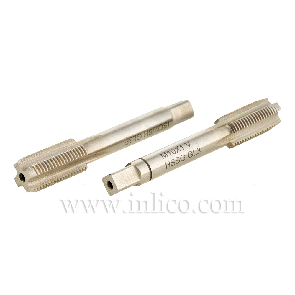 HAND TAP SET - TWO PIECE - M10X1 HSS METRIC ISO FINE THREAD DIN13 TAPER AND PLUG