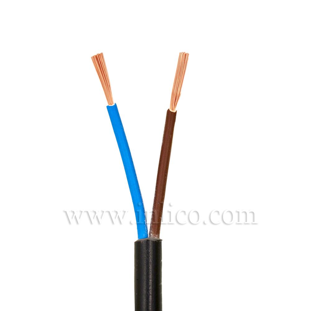 2X.5 ROUND BLACK FLX  HO3VV-F BS6500:2000 <HAR> HARMONISED