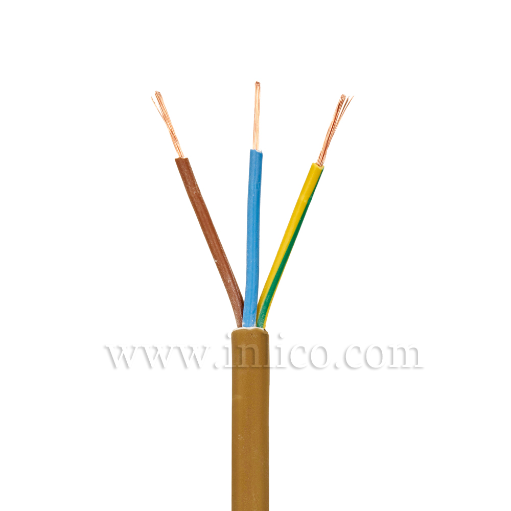 3X.5 GOLD CABLE HO3VV-F BS6500:2000 <HAR> HARMONISED