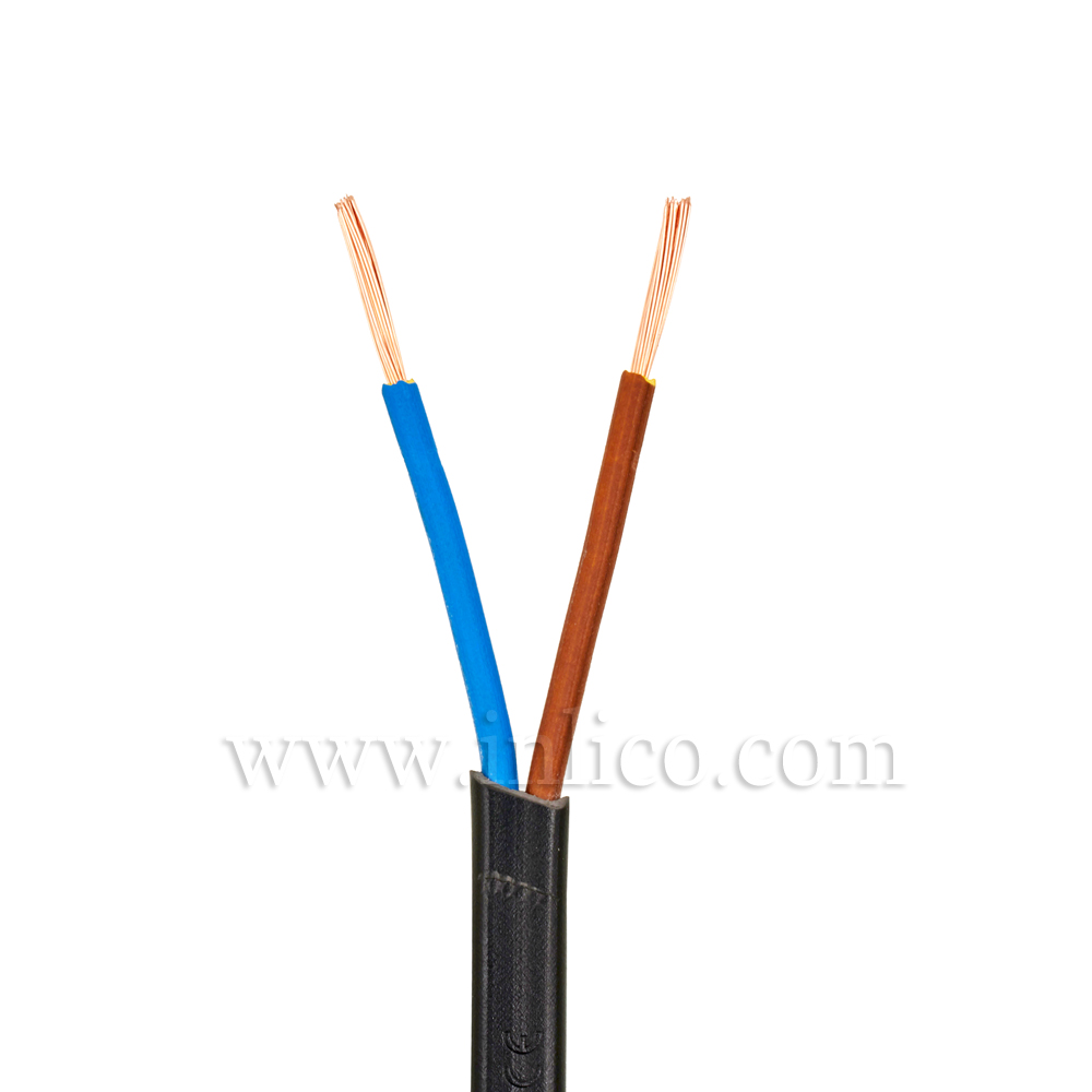2X.5 BLACK CABLE HO3VVH2-F BS5025:2011 <HAR> HARMONISED