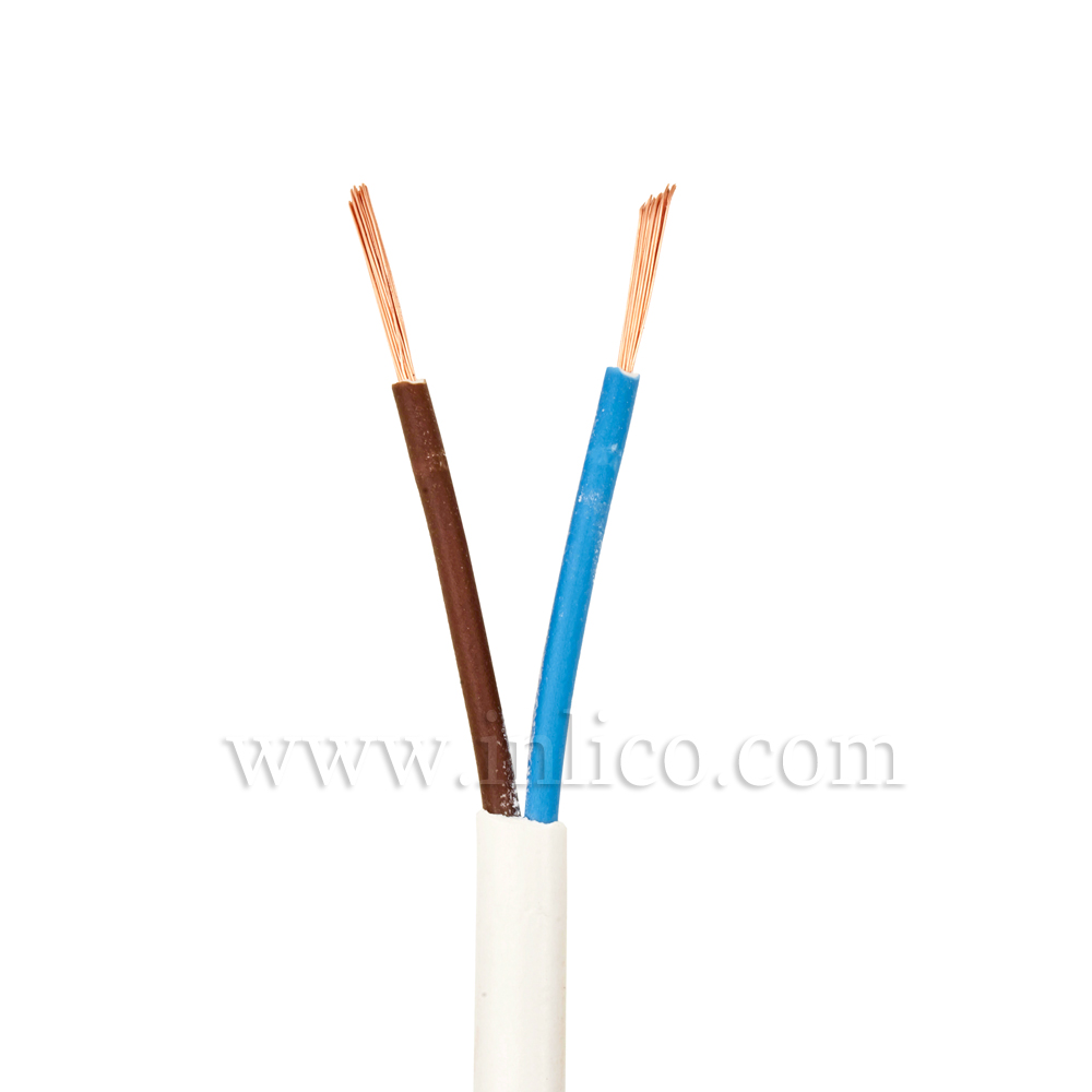 2X.5 WHT CABLE HO3VVH2-F BS6500:2000 <HAR> HARMONISED