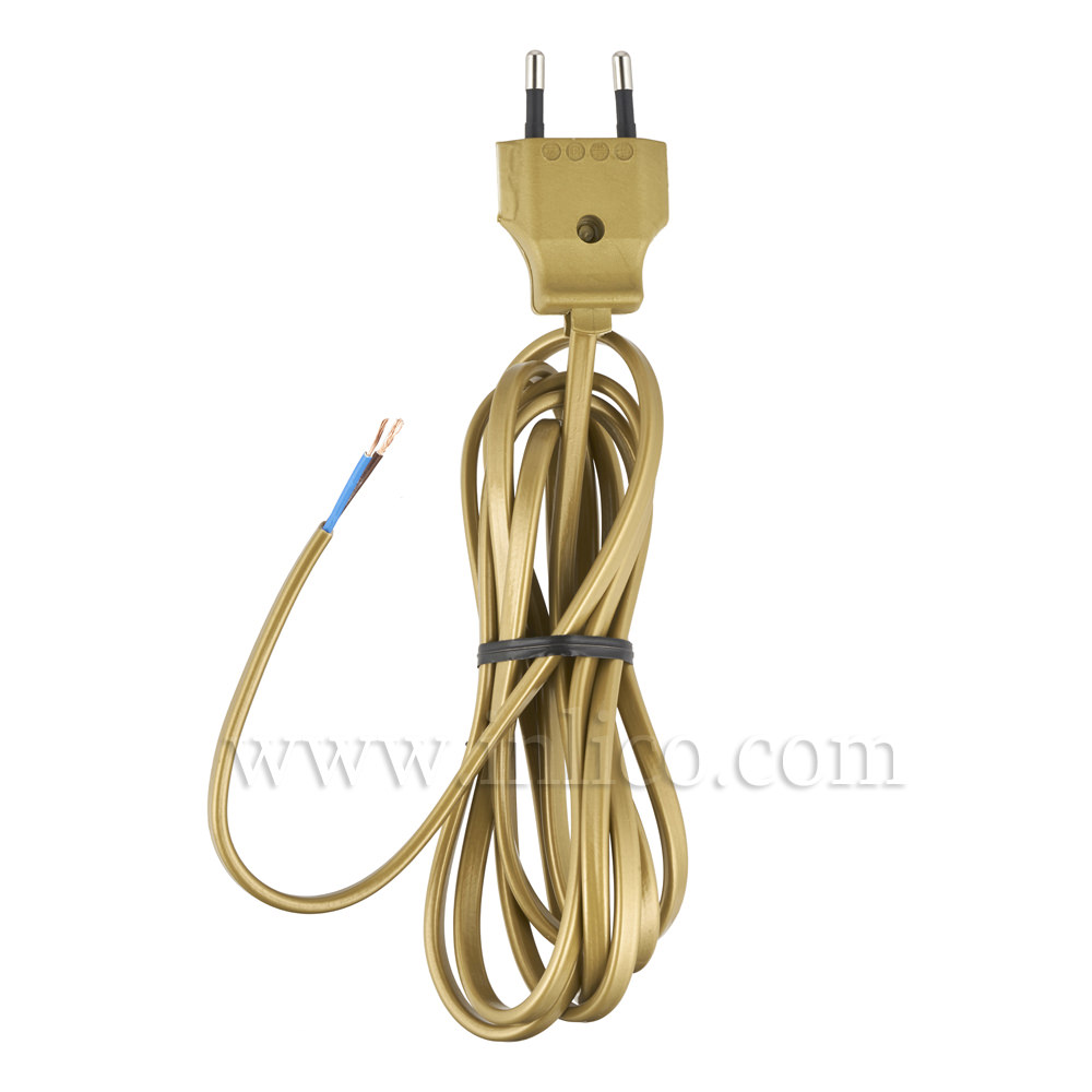 GOLD EUROLEAD 2 METRE 2192Y x 0.75mm TWO CORE CABLE