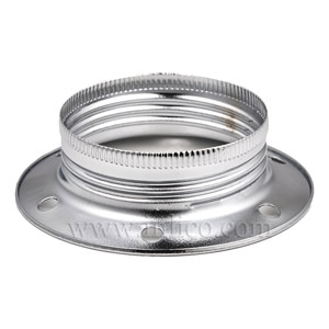 E27 METAL SHADE RING BRIGHT ZINC PLATED FINISH