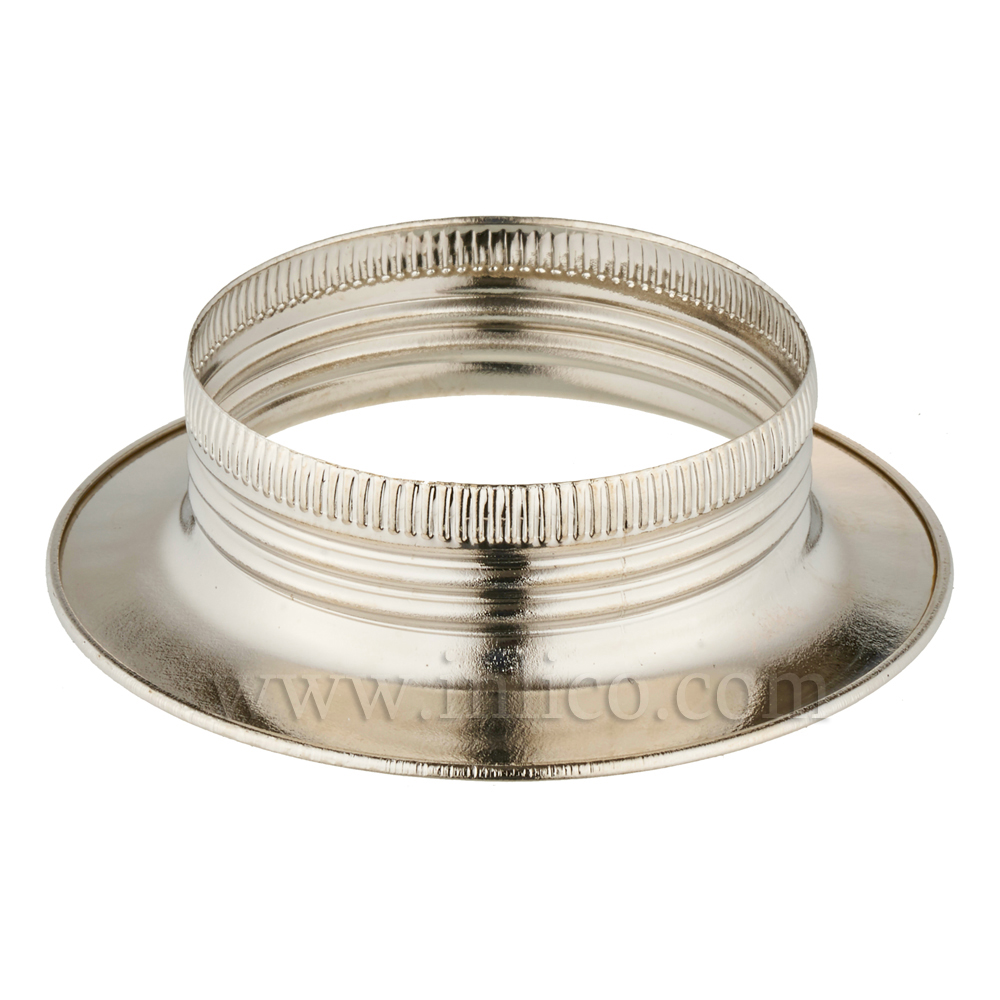 E27 METAL SHADE RING NICKEL PLATED