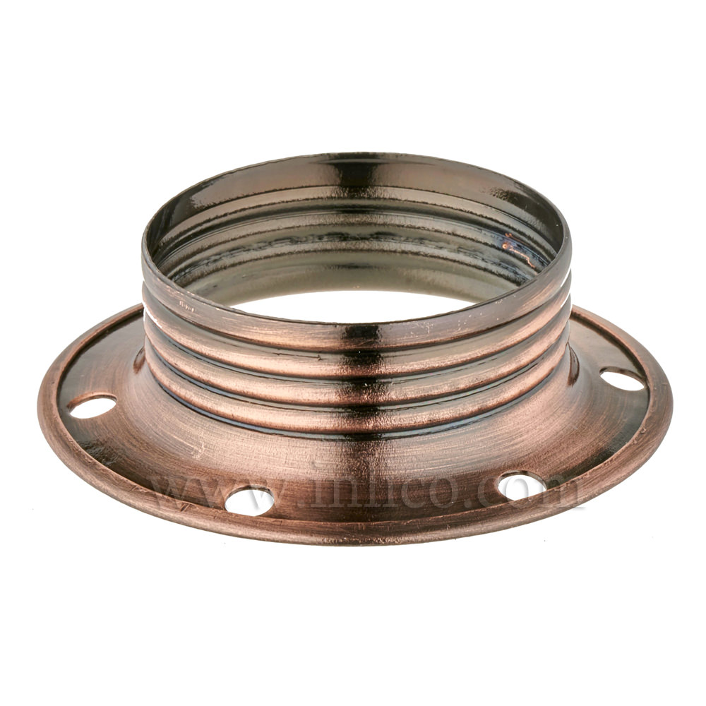 E14 METAL SHADE RING ANTIQUE COPPER