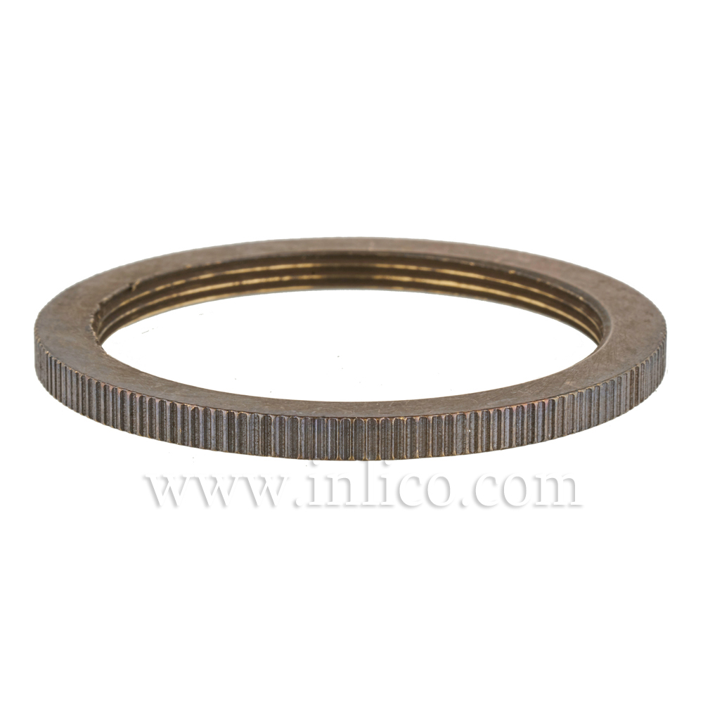 BRUSHED ANTIQUE BRASS SHADE RING FOR E27 BRASS LAMPHOLDER