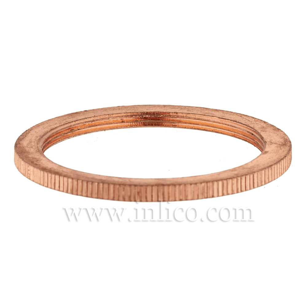 BRASS BRIGHT COPPER PLATED SHADE RING FOR E27 BRASS LAMPHOLDER