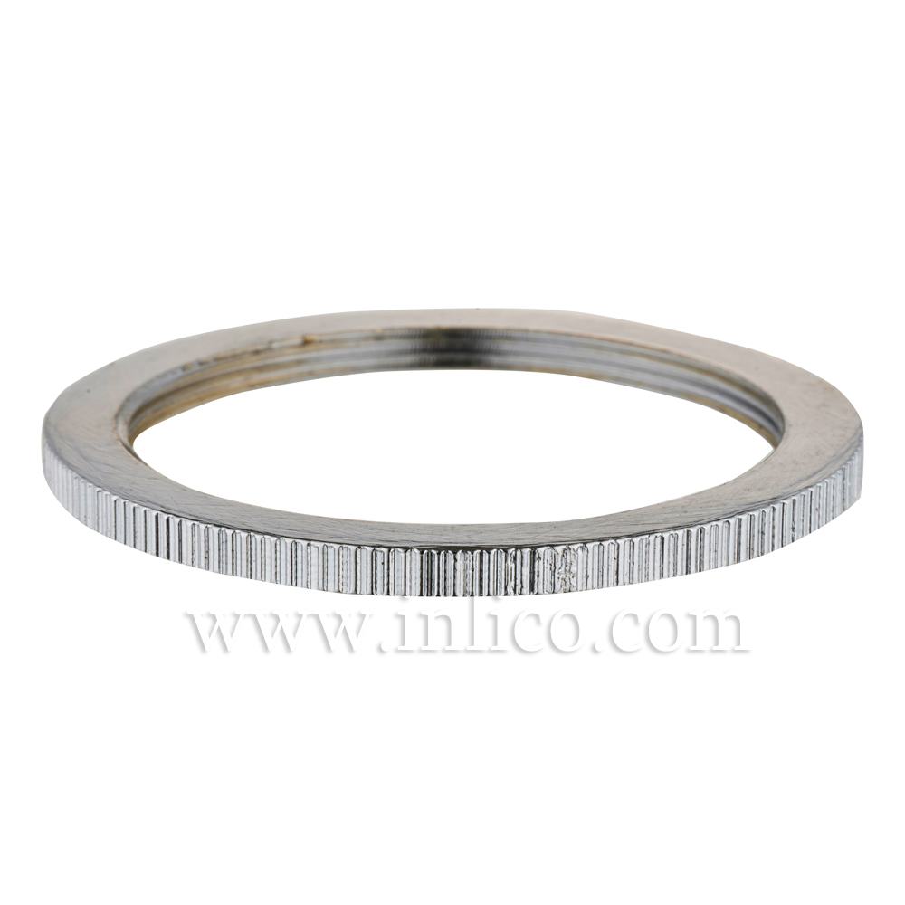 BRASS CHROME PLATED SHADE RING FOR E27 BRASS LAMPHOLDER