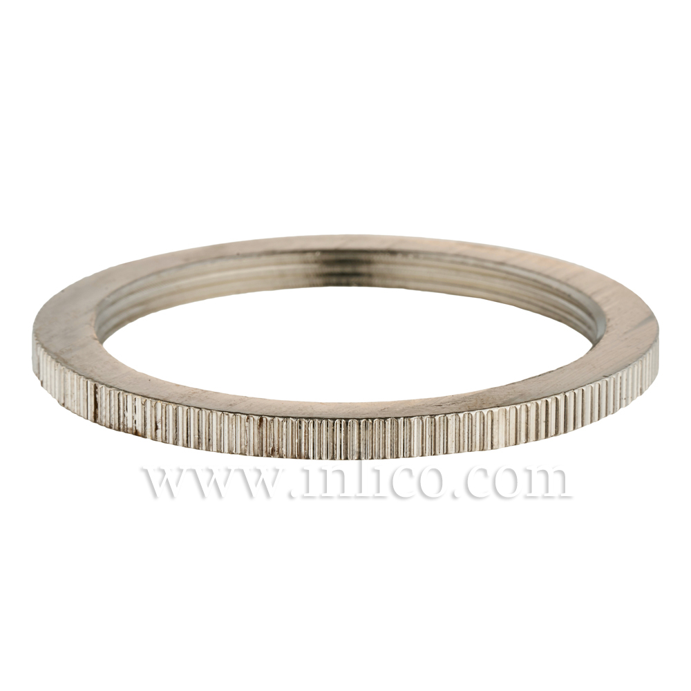 BRASS NICKEL PLATED SHADE RING FOR E27 BRASS LAMPHOLDER