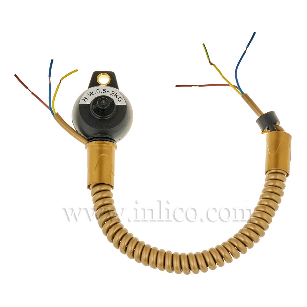 3 CORE RISE & FALL UNIT GOLD WITH CUP 2183Y x 0.75mm CABLE  MIN LOADING 0.7KG  MAX 4KG