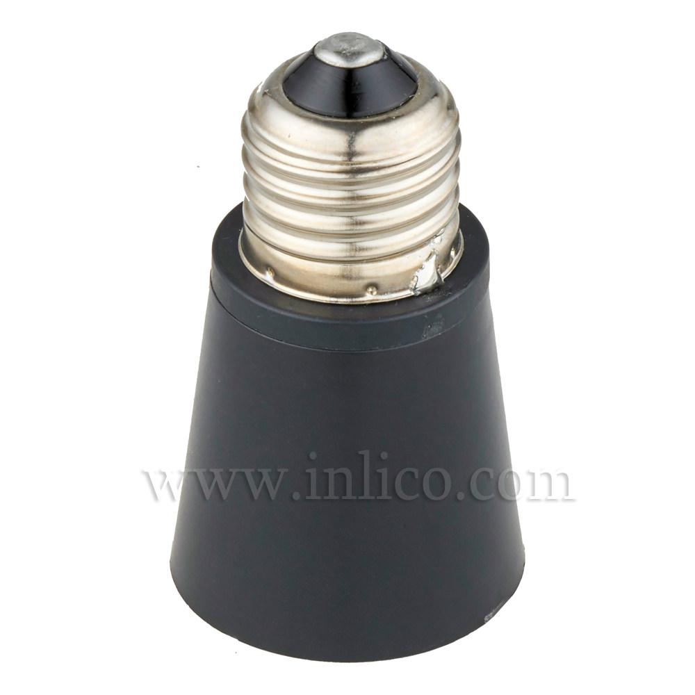 ES TO BC LAMPHOLDER ADAPTOR (100W MAX) BLACK