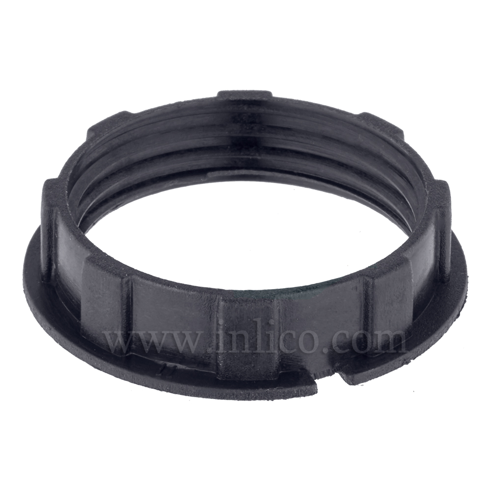 BLACK NARROW LIP SHADE RING FOR 701/702 SERIES E14 and B15- HEAT RESISTANT