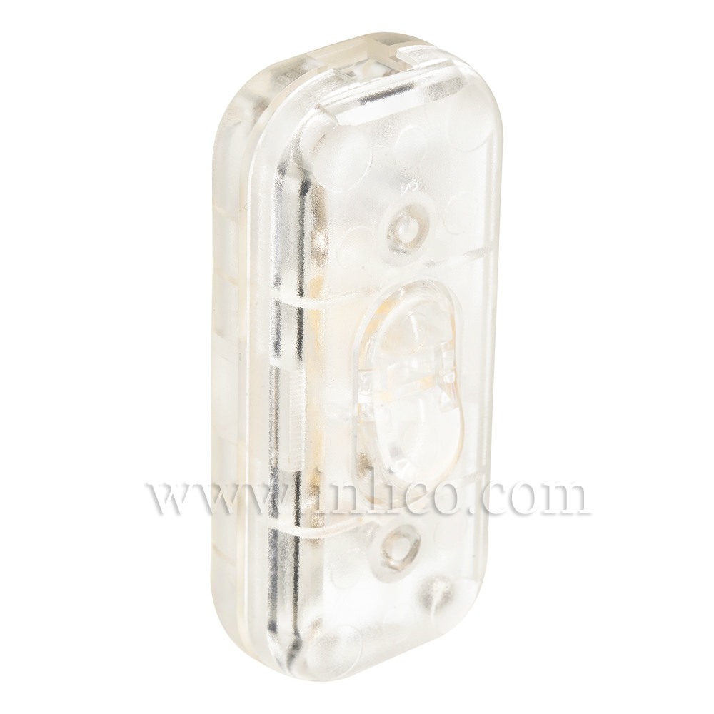 INLINE SWITCH FOR 3 CORE CABLE CLEAR 2A SINGLE POLE SCREW TERMINALS VDE APPROVED STANDARDS EN60158-1:2008 AND EN61058-2-1:2002