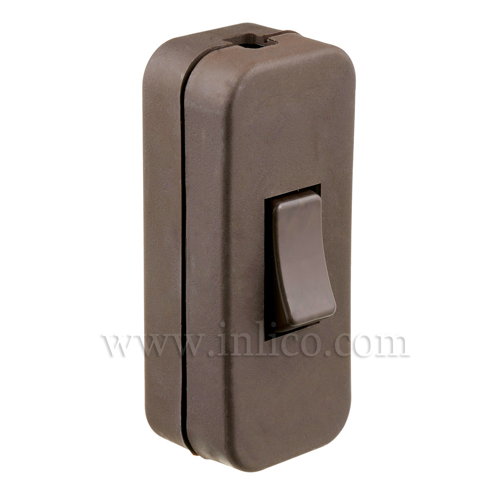 INLINE SWITCH FOR 2/3 CORE CABLE BROWN 2A SINGLE POLE SCREW TERMINALS   EN61058-2-1:2002+A2:2008