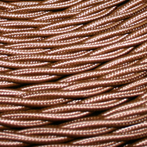 TWISTED CABLE  BROWN 3 CORE x 0.5MM DOUBLE INSULATED HO5V-K BS6500:2000