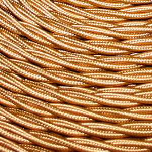 TWISTED CABLE BRONZE 3 CORE x 0.5MM DOUBLE INSULATED HO5V-K BS6500:2000