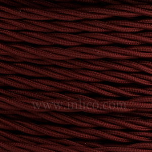 TWISTED CABLE  BURGUNDY 3 CORE x 0.75MM DOUBLE INSULATED HO5V-K BS6500:2000