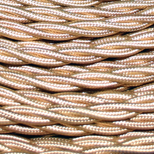 TWISTED CABLE GOLD 3 CORE x 0.5MM DOUBLE INSULATED HO5V-K BS6500:2000
