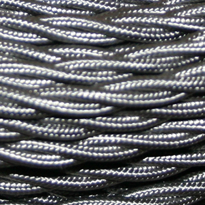 TWISTED CABLE  DARK GREY 3 CORE x 0.5MM DOUBLE INSULATED HO5V-K BS6500:2000
