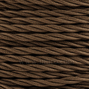 TWISTED CABLE  OLIVE BROWN 3 CORE x 0.75MM DOUBLE INSULATED HO5V-K BS6500:2000