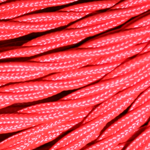 TWISTED CABLE  RED 3 CORE x 0.5MM DOUBLE INSULATED HO5V-K BS6500:2000