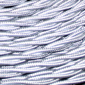 TWISTED CABLE  SILVER 3 CORE x 0.75MM DOUBLE INSULATED HO5V-K BS6500:2000