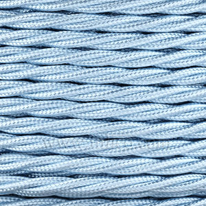 TWISTED CABLE  SKY BLUE 3 CORE x 0.75MM DOUBLE INSULATED HO5V-K BS6500:2000