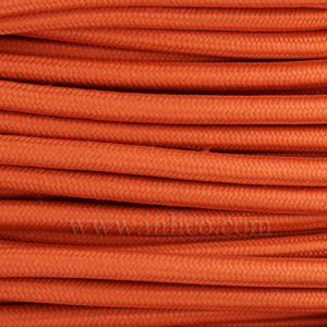 3x0.75MM FABRIC COVERED CABLE BRICK RED 3 X 0.75MM ROUND PVC/PVC FLEXIBLE CABLE COVERED IN FABRIC BRAIDED SLEEVE HO3VV-F BS6500:2000