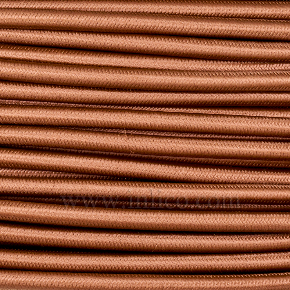 UL SPT2 CABLE BROWN  SILK COVERED 2 CORE x 18 AWG UL APPROVED FILE NUMBER E218701  153m per roll