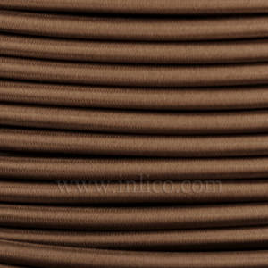 3x0.75MM FABRIC COVERED CABLE COFFEE 3 X 0.75MM ROUND PVC/PVC FLEXIBLE CABLE COVERED IN COFFEE FABRIC BRAIDED SLEEVE HO3VV-F BS5025:2011