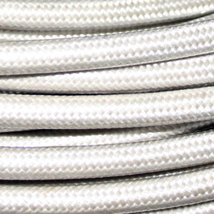 UL SPT2 CABLE WHITE  SILK COVERED 2 CORE x 18 AWG UL APPROVED FILE NUMBER E218701  153 m per roll