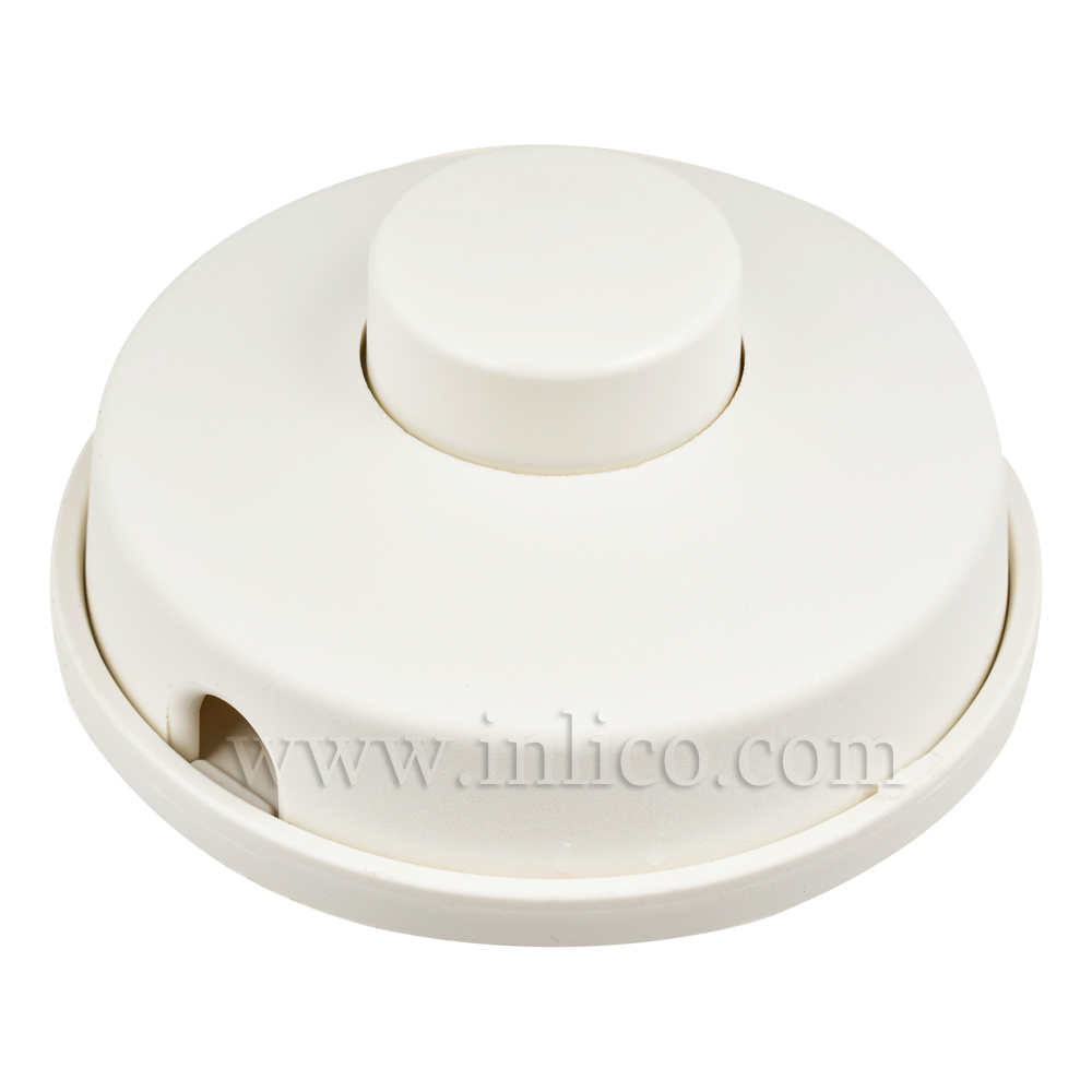 ROUND FOOT SWITCH 2A SINGLE POLE WHITE STANDARDS EN61058-1:2009 AND EN61058-2-1:2003