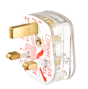 ASTA APRVD 13A PLUGTOP + 3A FUSE CLEAR BS1363 AND KITEMARKED