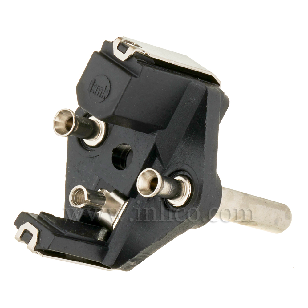 EARTHED SCHUKO PLUG INSERT WITH CRIMP TERMINALS.MAX CURRENT 16 AMPS CEE 7/4 AND CEE 7/7 (TYPE F AND TYPE E COMPATIBLE)  TO STANDARD IEC60884-1:2002