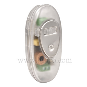 INLINE DIMMER CLEAR with ROTARY SWITCH  TO  STANDARD EN61058-1:2002 FOR LED AND INCANDESCENT LIGHT SOURCES