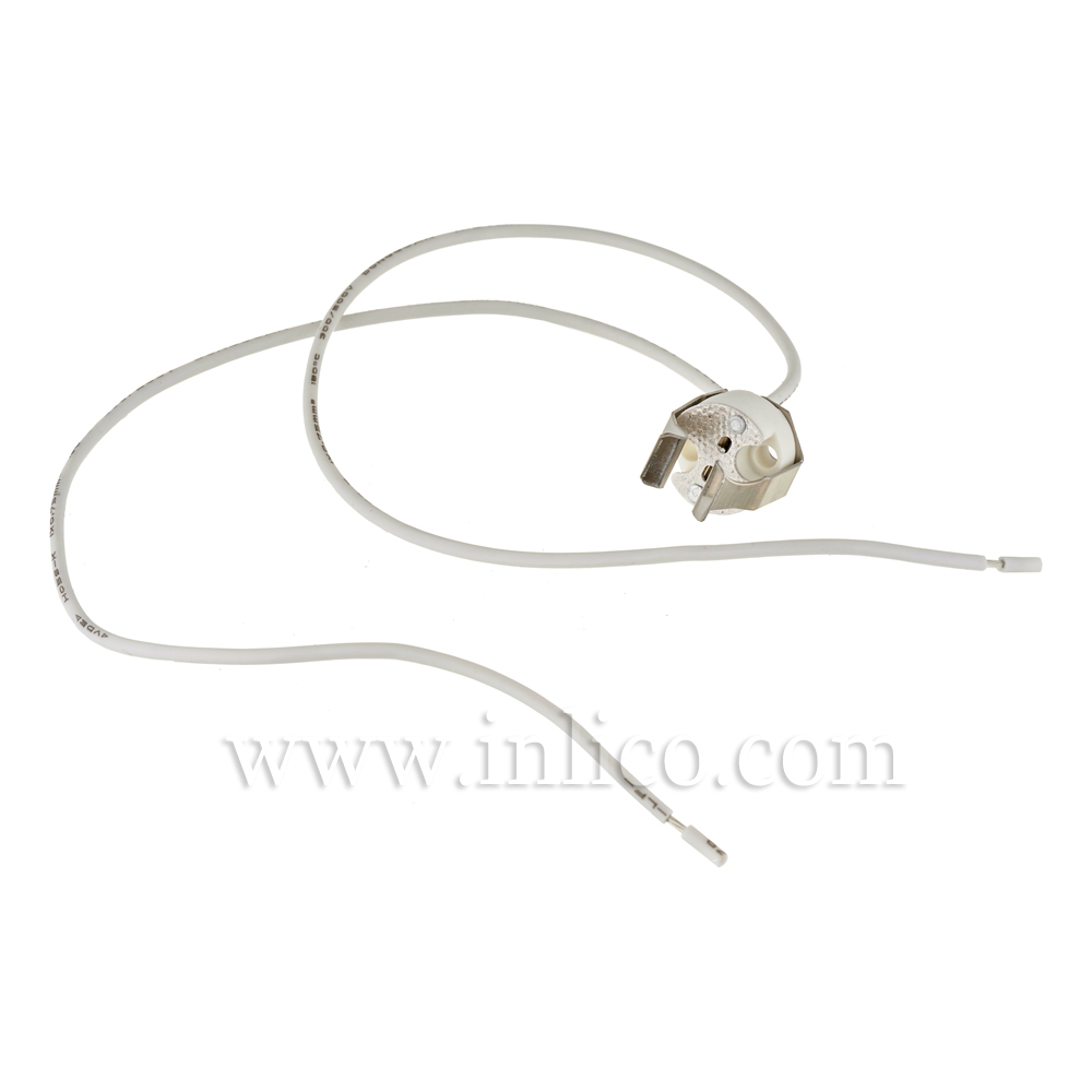 GU5.3/G4 LOW VOLTAGE LH WITH SPRING BKT + 30CM SILICON .75MM CABLE T250 VDE & UL APPROVED