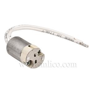 ALUMINIUM TUBE ADAPTOR M10X1 FOR LV LAMPHOLDER OD 16MM LENGTH 21MM