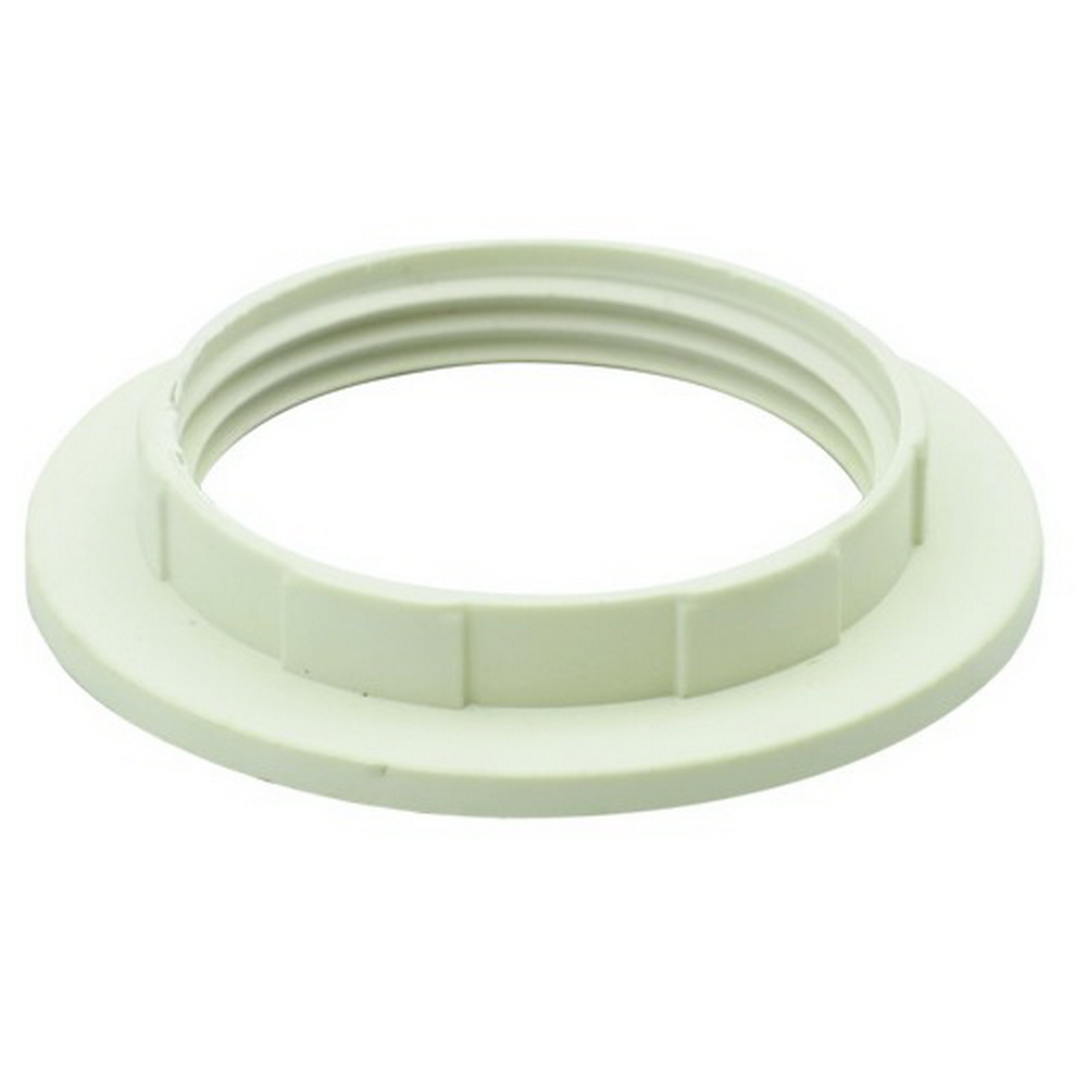 WIDE LIP S/RING WHITE E14/B15 HEAT RESISTANT