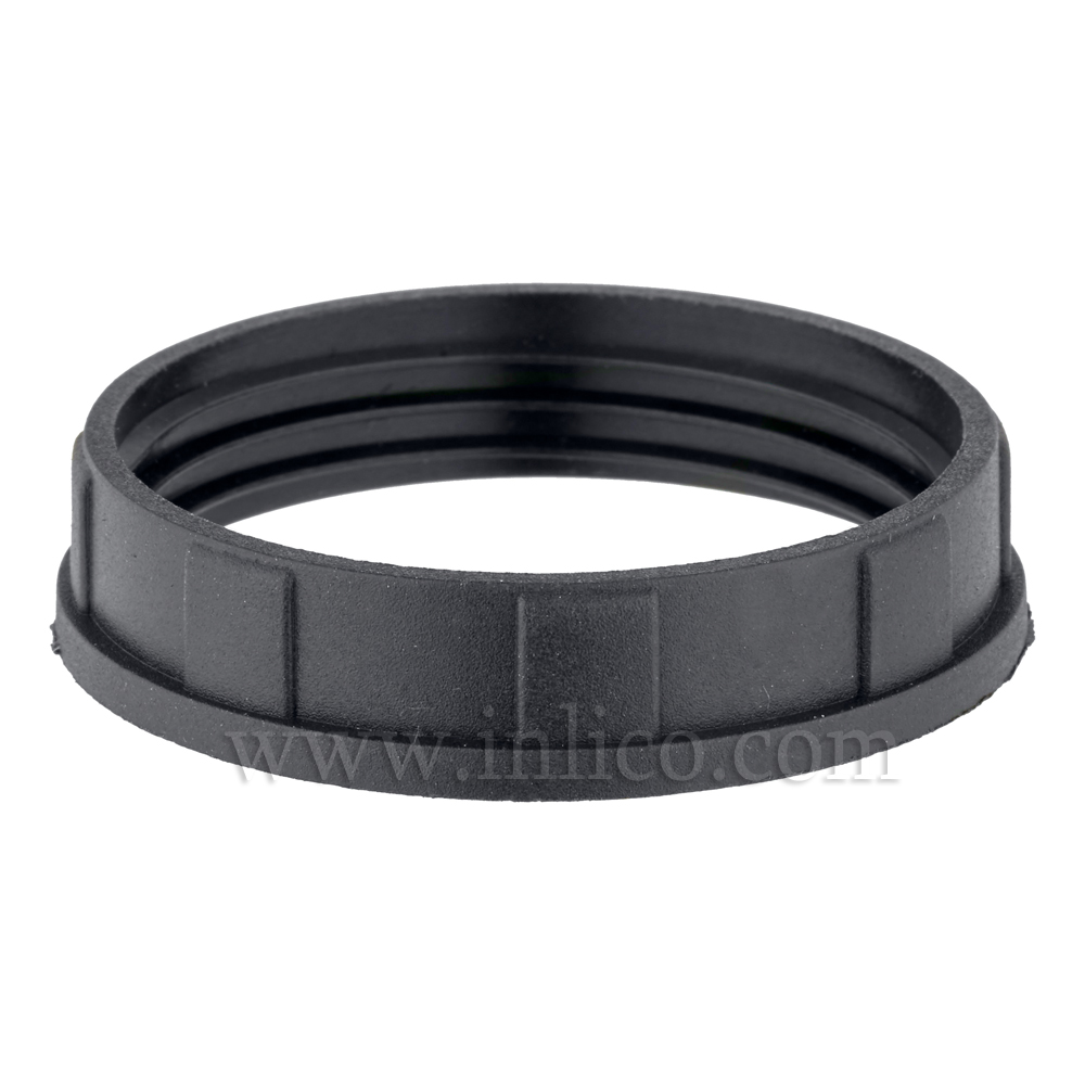 BLACK NARROW LIP SHADE RING E27/B22 46.5mm x 8.8mm