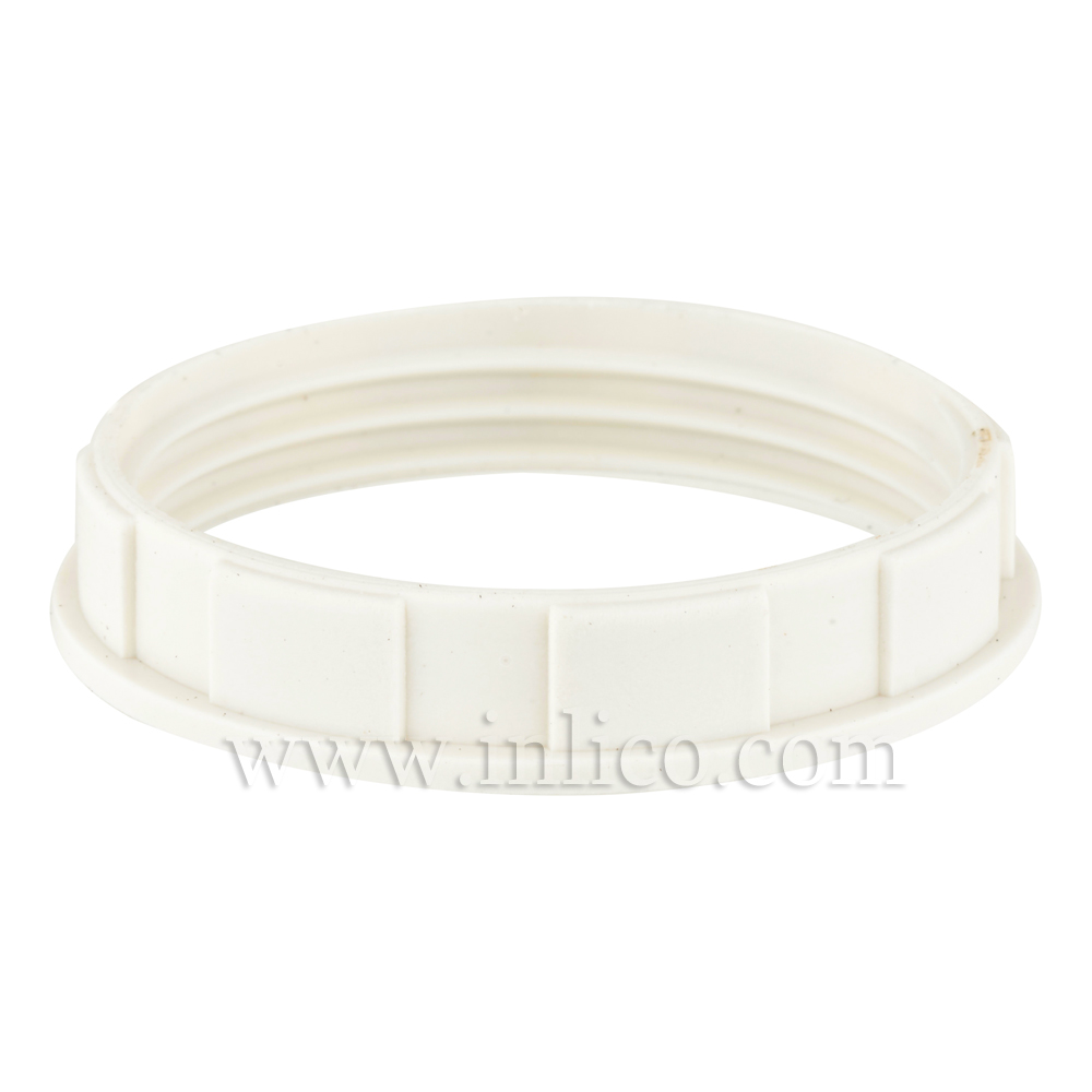 WHITE NARROW LIP SHADE RING E27/B22 46.5mm x 8.8mm