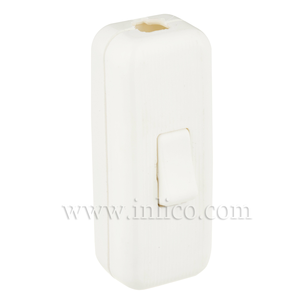WHITE INLINE CORD SWITCH FOR 2 OR 3 CORE APPROVED TO VDE   STANDARDS EN60158-1:2008 AND EN61058-2-1:2002  UL