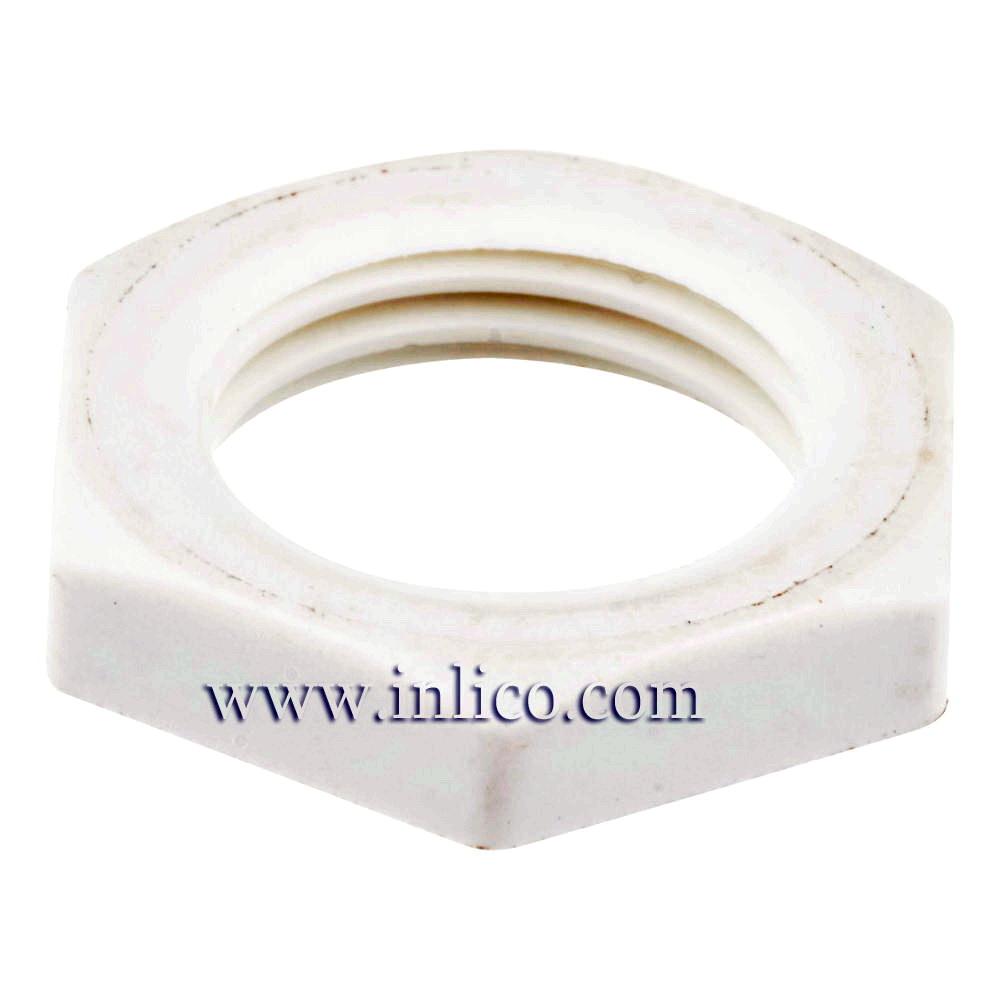 10MM PLASTIC HEX LOCKNUT WHITE