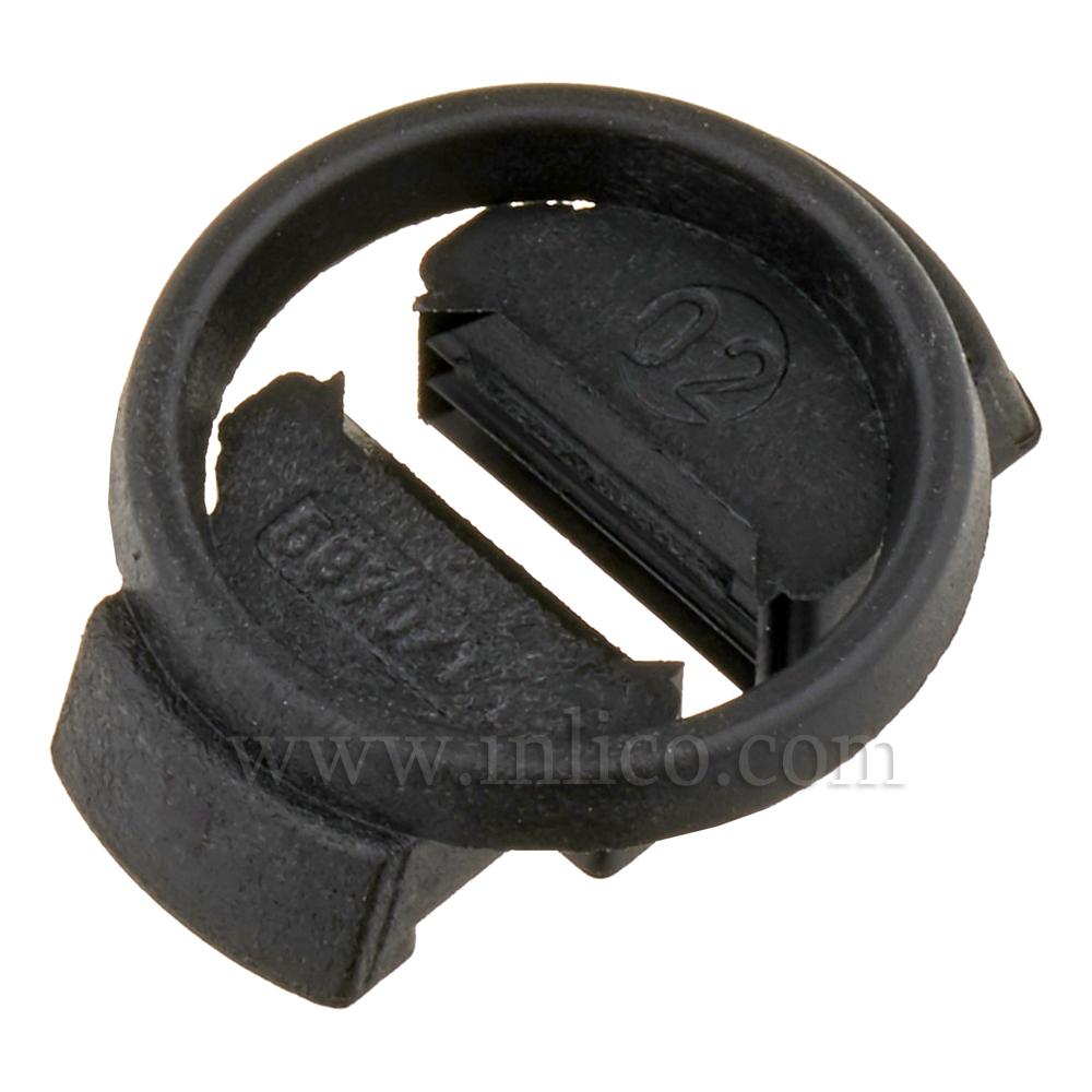 Internal Cord Grip for E14/B15 L/H - BLACK MAX DIAMETER 20MM